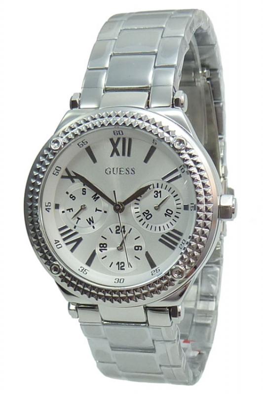 Damenuhren silber guess  Guess Uhr Damenuhr Multifunktion W0331L1 MINI CURRENT silber, 141,75
