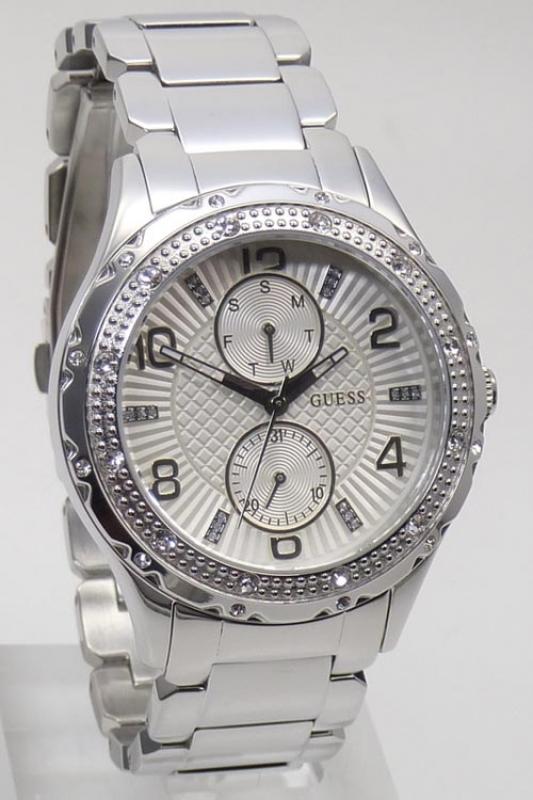 Damenuhren silber guess  Guess Uhr Damenuhr Multifunktion W0442L1 silber Edelstahl, 149,25 &eu