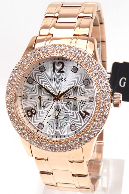 Guess Damenuhr Rose Gold Modeschmuck