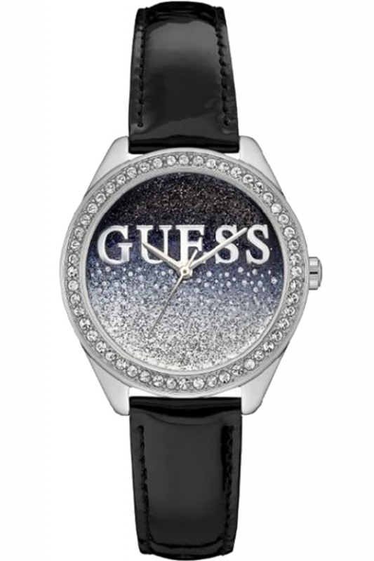 Guess Uhr Damenuhr W0823L2 Glitter Girl Schwarz Silber