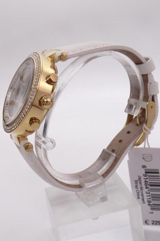 michael kors damenuhr chronograph mk2290 parker gold wei 39mm. Black Bedroom Furniture Sets. Home Design Ideas