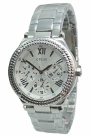 Guess Uhr Damenuhr Multifunktion W0331L1 MINI CURRENT silber