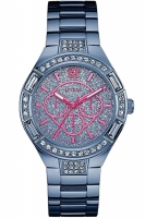 Guess Uhr Damenuhr Multifunktion W0776L4 Ladies Sport blau