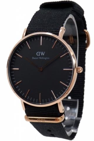 uhren-onda.de Daniel Wellington Uhr Uhren Damenuhr DW00100150 Classic Black Cornwall Rose