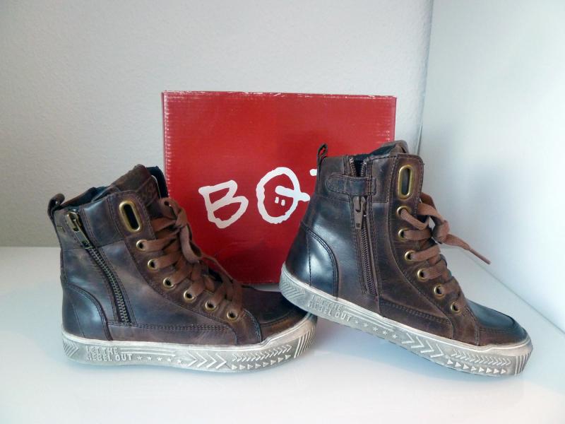 new style aebc5 092c2 BRAQEEZ Jungenschuhe Sneaker hoch Leder Gr.42