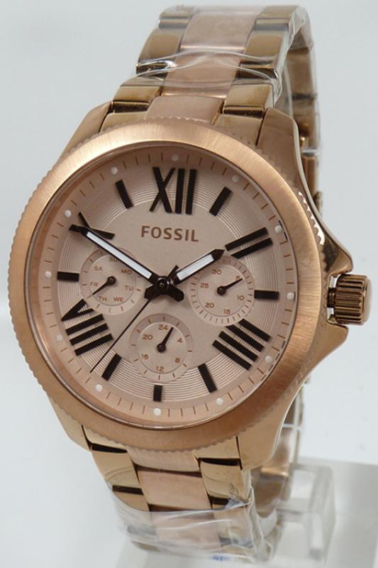 fossil uhr damenuhr multifunktion am4634 cecile rosegold edelstahl 1. Black Bedroom Furniture Sets. Home Design Ideas