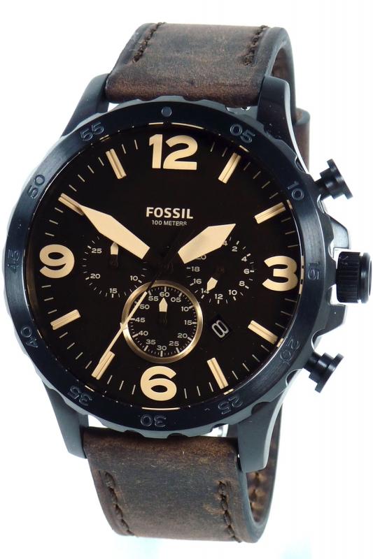 fossil uhr herrenuhr chronographen xl jr1487 nate braun 145 00 euro. Black Bedroom Furniture Sets. Home Design Ideas