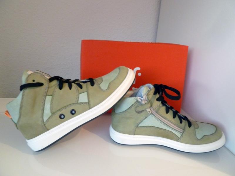 sports shoes 7b703 7176f Jochie&Freaks Jungen Sneaker Leder 18618-Army Gr.32
