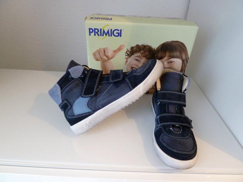 Geschicktes Design outlet neueste trends Primigi Schuhe Kinderschuhe Sneaker Leder Blau 51291/77 Gr.35