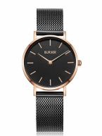 BURKER Uhr Uhren Damenuhr RUBY JR. BLACK ROSE GOLD...