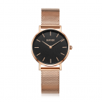 BURKER Uhr Uhren Damenuhr RUBY JR. ROSE GOLD BLACK...