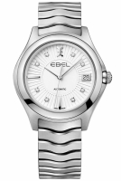 Ebel Automatik Damenuhr mit 8 Diamanten 1216321 Wave Lady...