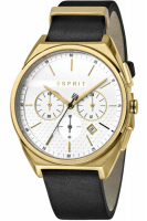 Esprit Uhr Uhren Herrenuhr Chronograph ES1G062L0025 Slice Chrono White Gold Black
