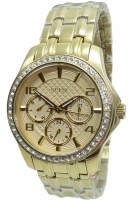 Guess Uhr Damenuhr Multifunktion W0403L2 MINI EXEC gold Strass