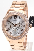 Guess Uhr Damenuhr Multifunktion W1097L3 Bedazzle rosegold