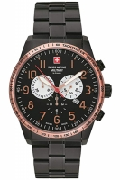 Swiss Alpine Military by Grovana Herrenuhr Chronopgraph 7082.9187 schwarz