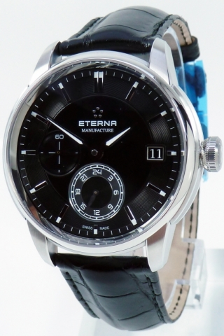 Eterna Automatik Uhr Uhren Herrenuhr 7661.41.46.1324 Adventic GMT